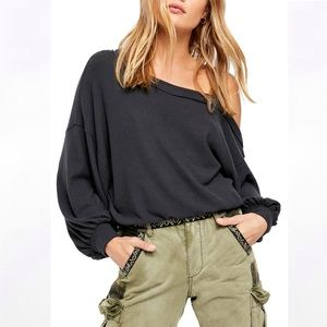NEW Free People Flaunt It Cold Shoulder Dolman Top